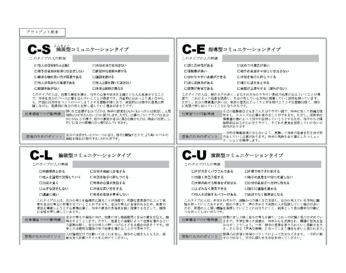 「コミュニケーションスタイル診断SCAT」画像
